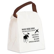 MOOSE CREEK LODGE Canvas Lunch Bag