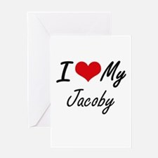 I Love My Jacoby Greeting Cards
