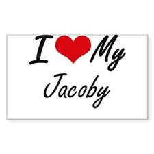 I Love My Jacoby Decal
