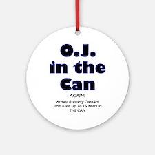 OJ in the Can Ornament (Round)