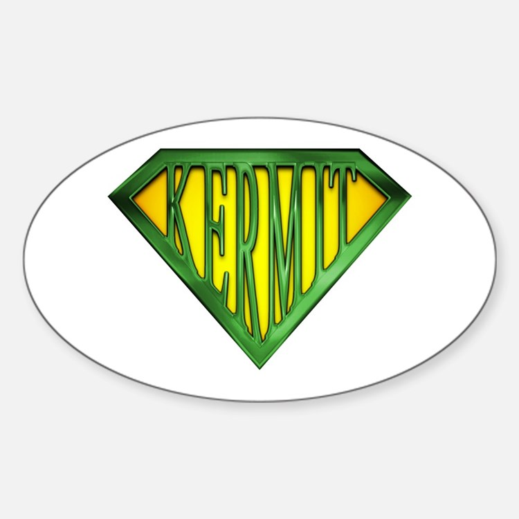 SuperKermit(Green) Oval Decal