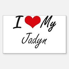I Love My Jadyn Decal