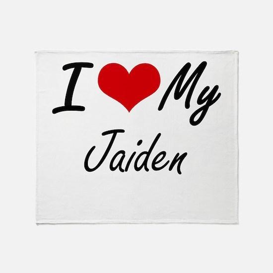 I Love My Jaiden Throw Blanket