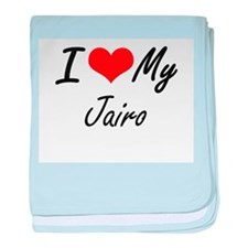 I Love My Jairo baby blanket