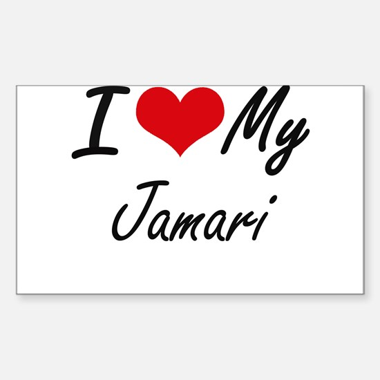 I Love My Jamari Decal