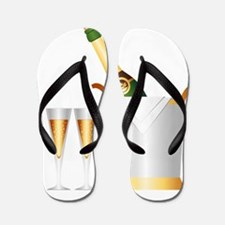 champagne bottle Flip Flops