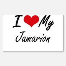 I Love My Jamarion Decal