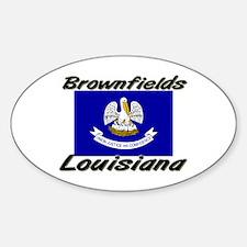 Brownfields Louisiana Oval Decal