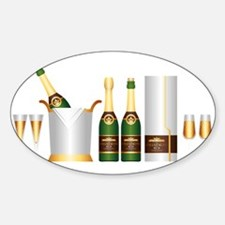 champagne bottle Decal