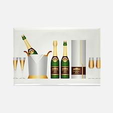 champagne bottle Magnets