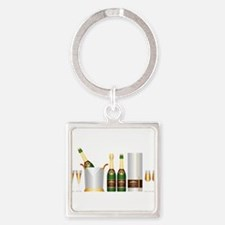 champagne bottle Keychains