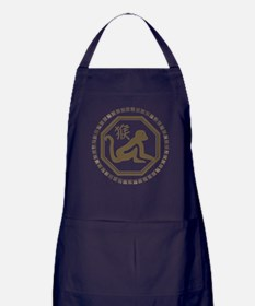 Chinese Zodiac Monkey Apron (dark)