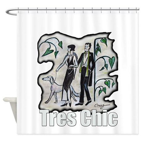 vintage style fashion Tres Chic Shower Curtain by ADMIN