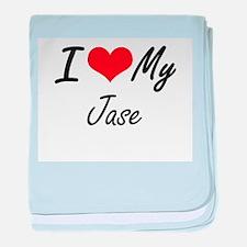 I Love My Jase baby blanket