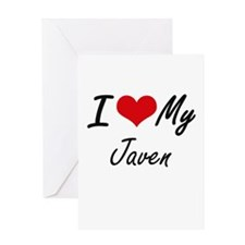 I Love My Javen Greeting Cards