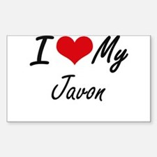 I Love My Javon Decal