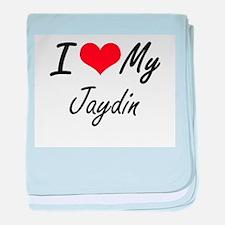 I Love My Jaydin baby blanket