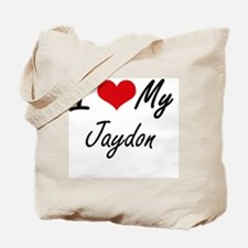 I Love My Jaydon Tote Bag