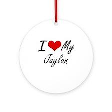 I Love My Jaylan Round Ornament