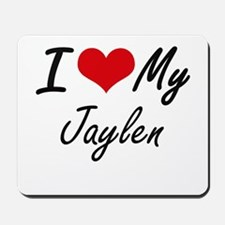 I Love My Jaylen Mousepad
