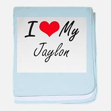 I Love My Jaylon baby blanket
