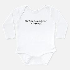 Cute Special agent Long Sleeve Infant Bodysuit