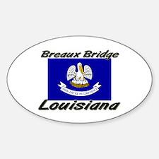 Breaux Bridge Louisiana Oval Decal