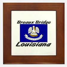 Breaux Bridge Louisiana Framed Tile