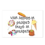 What Happens at Grandpa's... Postcards (Package of
