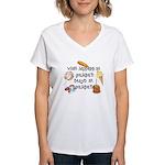 What Happens at Grandpa's... Women's V-Neck T-Shir