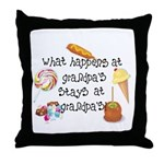 What Happens at Grandpa's... Throw Pillow