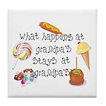 What Happens at Grandpa's... Tile Coaster