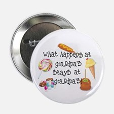 """What Happens at Grandpa's... 2.25"""" Button (100 pac"""