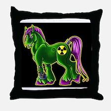 Radio Active Pony  Throw Pillow