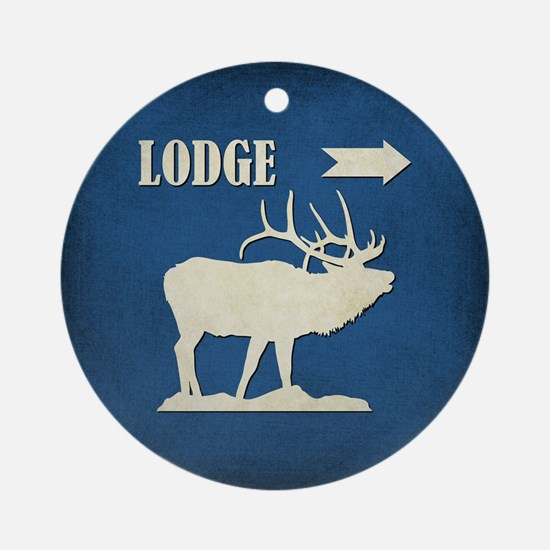 LODGE Round Ornament