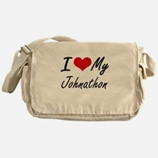 I Love My Johnathon Messenger Bag
