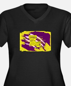 Louisiana Tiger Clawed Plus Size T-Shirt