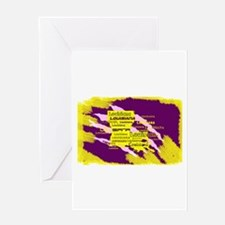 Louisiana Tiger Clawed Greeting Cards