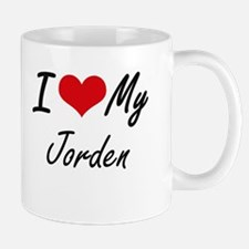 I Love My Jorden Mugs