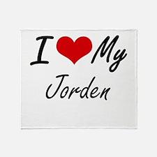 I Love My Jorden Throw Blanket