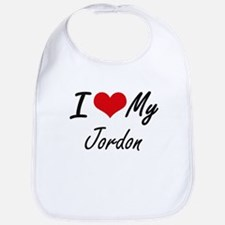 I Love My Jordon Bib