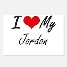 I Love My Jordon Postcards (Package of 8)