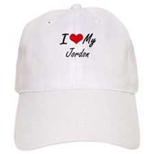 I Love My Jordon Baseball Baseball Cap