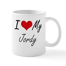 I Love My Jordy Mugs