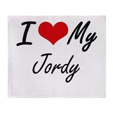 I Love My Jordy Throw Blanket