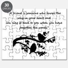 Friend Quote Song in my Heart Birds Puzzle
