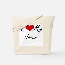 I Love My Jovan Tote Bag