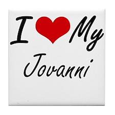 I Love My Jovanni Tile Coaster