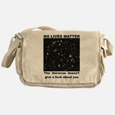 No Lives Matter (Explicit - Black) Messenger Bag