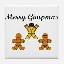 Merry Gimpmas (Black) Tile Coaster